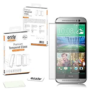 Orzly® - HTC ONE MINI 2 (M8 MINI) Premium Tempered Glass 0.3mm Protective Screen Protector For HTC ONE MINI 2 SmartPhone - All New 2014 Mini Model / Compact Version / M8 Mini