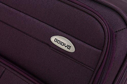 51aOLvr2NfL - Beibye 4ruedas maleta de viaje 8005plástico maletín equipaje Maleta Juego de L XL de m en 5colores (Lila, Juego)