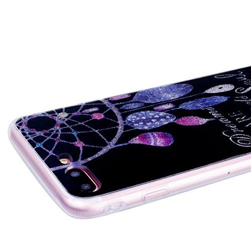 "WE LOVE CASE iPhone 8 Hülle Glitzern Transparent Rosa iPhone 8 4,7"" Hülle Silikon Weich Cherry Handyhülle Tasche für Mädchen Elegant Backcover , Soft TPU Flexibel Case Handycover Stoßfest Bumper , Ult Campanula"