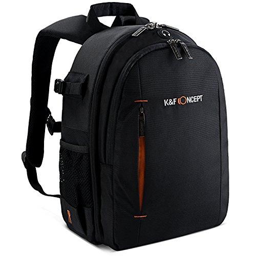 K&F Concept Kamera Rucksack Fotorucksack Camera Backpack für 2 SLR-Kameras 2-4 Objektive 38*27*17cm