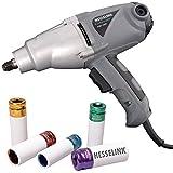 HesseLink® PIW 1000 Avvitatore elettrico con 5 pezzi in omaggio Avvitatore a percussione professionale elettrico 230 volt  per cambio gomme autoveicoli, utilizzabile ovunque non sia disponibile un compressore.