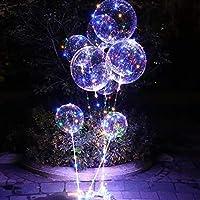 QIANGUANG Tira de LED Transparente Globo con luces intermitentes anuncio de amor Luz Proponer Aniversario de Boda Club Fiesta de Cumpleaños Suministros para Niños(1PC)