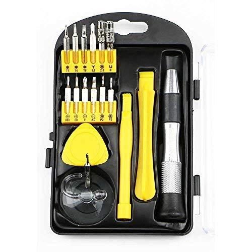 17in Tragbare Repair Tool Kit für iPhone, MacBook, iMac, und andere Elektronik-Magnetisiert Fahrer Griff und Bits (Imac-tool-kit)