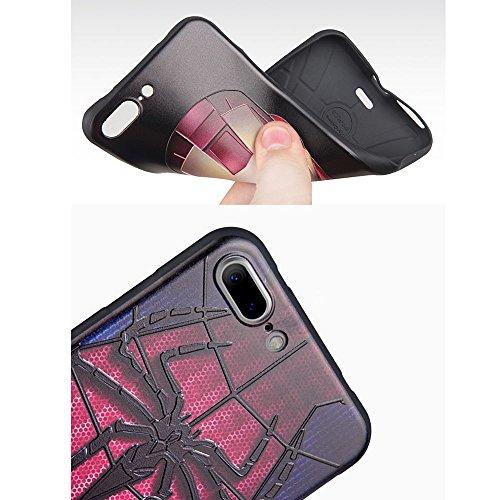 UKDANDANWEI Apple iPhone 7 Plus Hülle - TPU 3D Handyhülle Schutzhülle Silikon kratzfeste stoßdämpfende Case für Apple iPhone 7 Plus [Dummy Doll] ] ] SunBlume