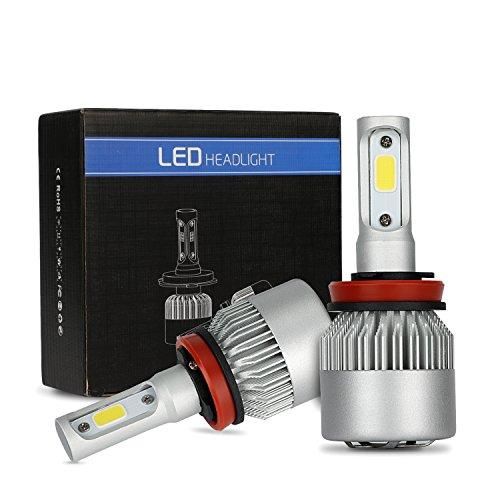 MiCarBa fari LED H4 Lampadina 72W 8000LM Lampadine Super Bright per fari auto Impermeabile bianco freddo 6500K COB Kit conversione fari LED Sostituire per lampadine alogene HID (OSP-H4)
