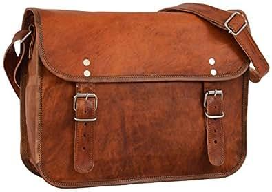 """Gusti Leder nature """"John 11"""" Genuine Leather Satchel Messenger Shoulder Handbag Vintage 13"""" Laptop Leisure Bag Vintage Unisex Rich Brown M2"""
