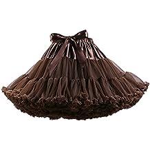 ZAMME Las niñas de las mujeres se visten con capas de bailarina princesa falda de tutú
