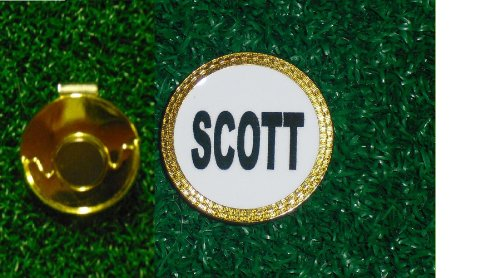 Gatormade Personalized Golf Ball Marker & Hat clip Scott