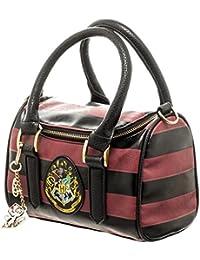 Producto oficial de Harry Potter Hogwarts Crest Mini Satchel Bolsa de hombro y encanto llavero