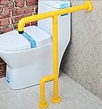 NAERFB Badezimmer Armlehne Barrierefrei Nylon Handlauf Handläufe für Ältere Behinderte Bad WC Badezimmer Waschbecken Armlehne (Farbe: Gelb)