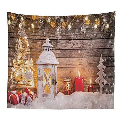 Weihnachtstapisserie Hängetuch Hintergrundtuch Wohnkultur Tagesdecke Wandbehang Picknickdecke Sonnendecke,Möbelbezug Dieses einzigartige und neuartige Design150X200cm (F)