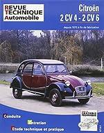 Revue technique Automobile - Citroën 2 CV 4 et 2 CV 6, camionnettes 250 et 400 depuis 1970 jusqu' à fin fabrication