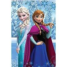 Frozen Disney - Coperta Plaid in Pile 100x150 cm - Bambina - 100% Poliestere - Novità Prodotto Ufficiale