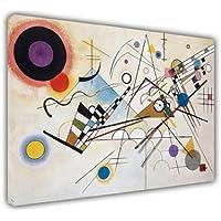 Wassily Kandinsky Composition VIII - Stampe fotografiche su tela per decorazione, foto, pittura a olio, ristampa, puntine Tela Legno, 9- A0 - 40