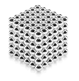 Juguete de Escritorio de 3 cm Puzzle Cube, Desarrollo de Inteligencia y Alivio de Estrés - Argento