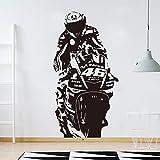 MINGH Valentino Rossi VR 46 The Doctor Motor Race Wandtattoo Junge Zimmer Kinderzimmer Motorrad...