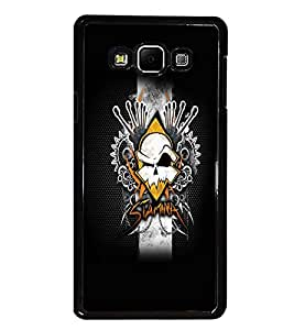 PrintDhaba Abstract Design D-5604 Back Case Cover for SAMSUNG GALAXY A7 (Multi-Coloured)