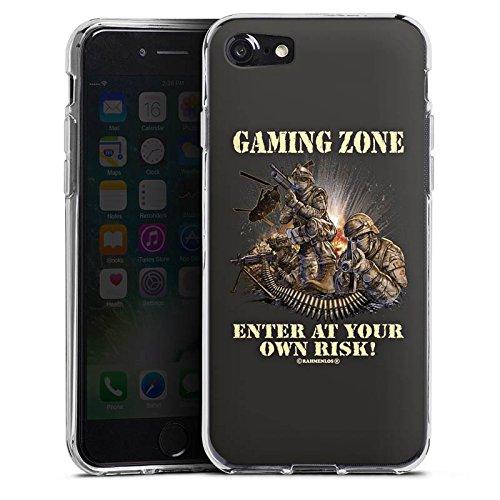 Apple iPhone X Silikon Hülle Case Schutzhülle Gaming Zone Game Sprüche Silikon Case transparent