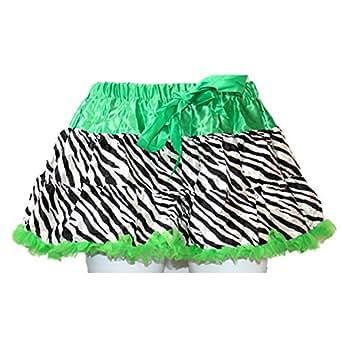 Zebra Print Tutu Skirt Green Fits Size (6-10)