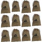 HomeStrap Shoe Pouch/Bag/Organiser/Beige/Set of 12