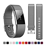 Kutop for Fitbit Charge 2 Strap,TPU Soft Silicone Sports Fitness Replacement Band Silica Gel Adjustable Watchband for Fitbit Charge 2