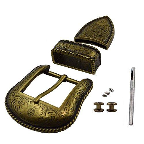 1-1 / 2 'Antique Bronze Fashionable Cowboy Belt Buckle