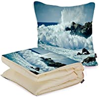 i FaMuRay Custom Car Travel Square Pillow with Blanket 2