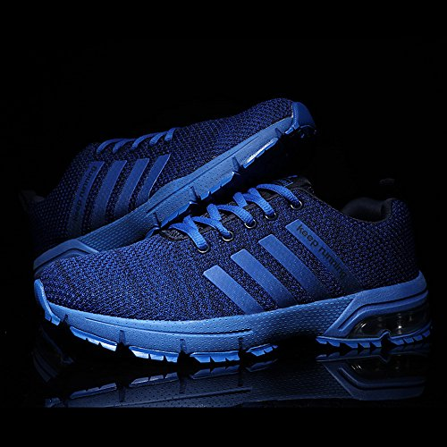 PAMRAY Damen Herren Running Fitness Sneaker Air Outdoors Straßenlaufschuhe Sports Freizeit Laufschuhe 36-46 Schwarz Blau Rot Weiss Blau