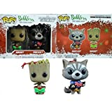 Groot and Rocket Pop Bobblers Hanging Christmas Ornaments Marvel Collectors Corp Exclusives by FunKo