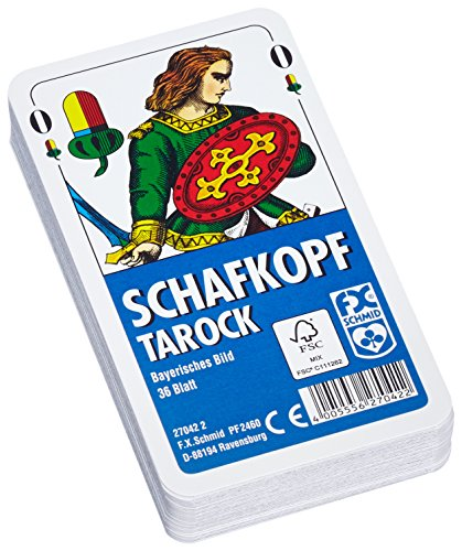 Ravensburger 27042 - Schafkopf/Tarot, Bayerisches Bild - 36 Blatt, glasklares Etui