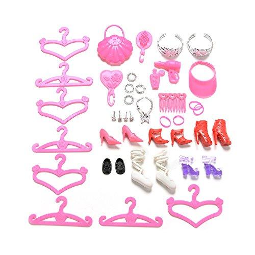 ASIV 34Pcs Doll Accessories for Barbie Dolls Girls Toys Children's Gift