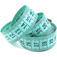 1 Maßband grün 150cm inkl. Aufbewahrungsdose, Schneidermaßband, Bandmaß