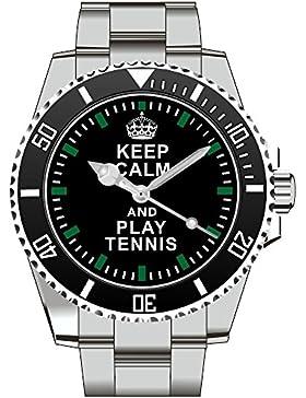 Keep calm and play TENNIS - Armbanduhr - Uhr 1570