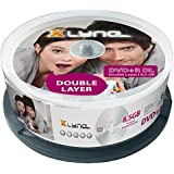 xlyne DVD+R Double Layer Rohlinge (8x Speed 8,5GB, 25er Spindle) silber