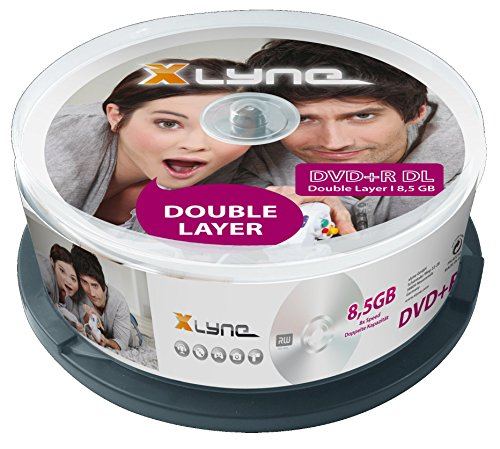 dvd 8gb XLYNE DVD+R DL Double Layer Rohlinge (8,5 GB, 8x Speed, 25er Spindel)