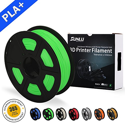 3D Printer Filament PLA+,PLA+ Filament 1.75 mm SUNLU,Low Odor Dimensional Accuracy +/- 0.02 mm 3D Printing Filament,2.2 LBS (1KG) Spool 3D Printer Filament for 3D Printers & 3D Pens