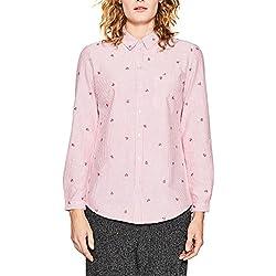 Esprit 018ee1f008, Blusa para Mujer, Multicolor (Berry Red 625), 34