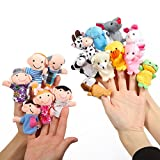 Twister.CK Finger Puppets Set Story Time 16 Piezas - 10 Animales y 6...