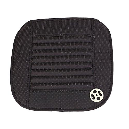 Preisvergleich Produktbild Sedeta® schwarz PU-weiche atmungsaktive Auto Sitzbezug Stuhlkissen Matten Pad Kfz-Innenraum für den Fahrer