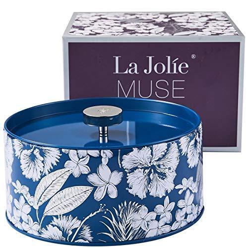 La Jolíe Muse Duftkerze Soja Kerze Groß, Baumwolle Duft Natürliches Aromatherapie 3 Dochte 400g -