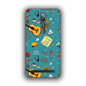Caseque (Pro) Aquatic Life Back Cover For Asus Zenfone 2