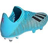adidas X 19.3 SG, Chaussures de Football Homme, Bleu (Bright Cyan/Core Black/Shock Pink Bright Cyan/Core Black/Shock Pink), 45 1/3 EU