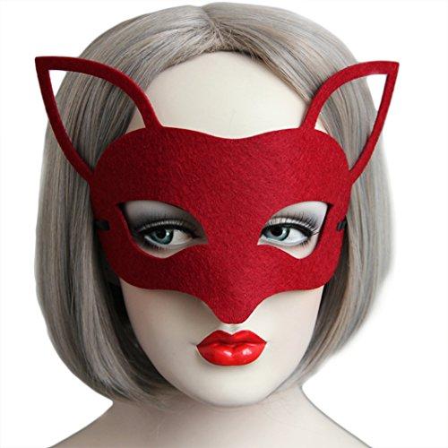 VENI MASEE Partei Maske halb Gesicht Hochzeit Requisiten Masquerade chrismas (Maske Karneval Halb Stil)