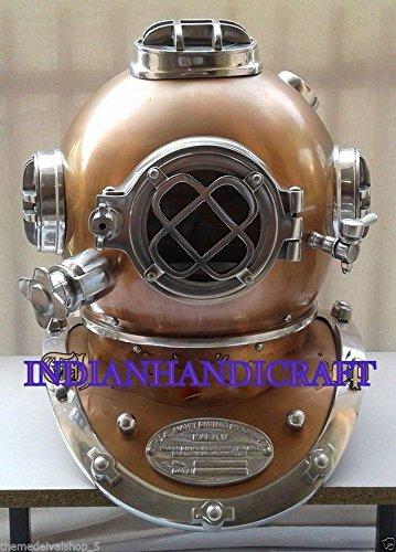 Antik Scuba SCA Taucher Tauchen Helm US Navy Mark V Tief Marine Taucher 18