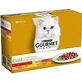 Gourmet Gold Les Noisettes - 12 x 85 g - Boîtes pour Chat Adulte - Lot de 8