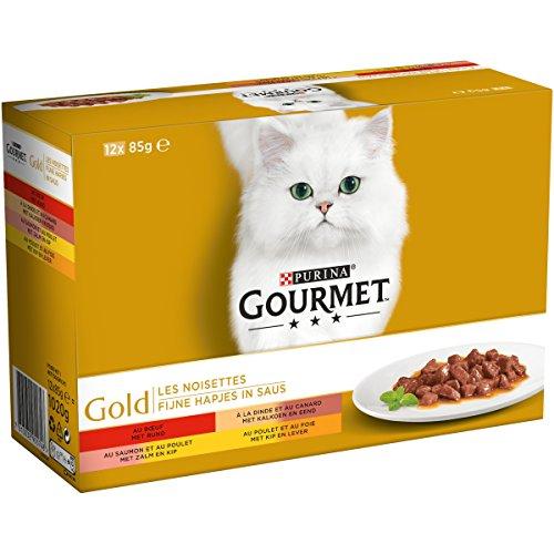 Gourmet Gold Les Noisettes - 12 x 85 g - Boîtes pour...