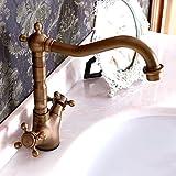 HJ-Kontinentale retro spezielle Kupfer-Wasserhahn Küche Badezimmer Schrank Antik Toilette Becken Wasserhahn