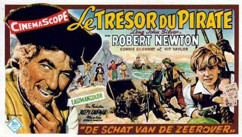 long-john-silver-poster-11-x-17-inches-28cm-x-44cm-1954-belgian-style-a