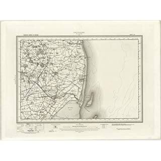 Skegness (Alford) - Ordnance Survey of England and Wales 1890 Series - 100cm x 74cm