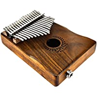 Cutogain CUTOGINE - Piano de Madera de Caoba con 17 Llaves Kalimba Mbira con Pastilla